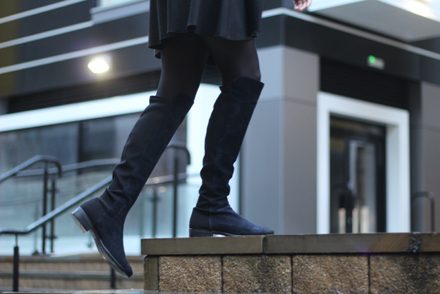 clarks knee high boots fashion blog