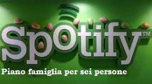 Piano Famiglia Spotify per Sei Persone