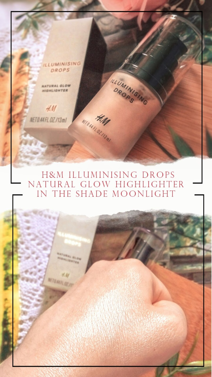 H&M Water Sprite, Life's a peach, Kobai Azalea, Cup of Joe, Illuminising Drops - Moonlight, Scintillating eye colour - Girl's best friend - review