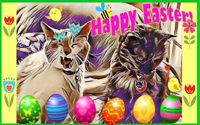 The Real Cats 2017 Happy Easter card