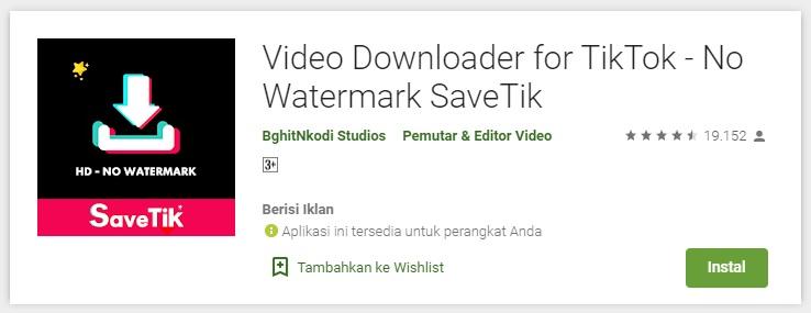 Video Downloader for TikTok - No Watermark SaveTik