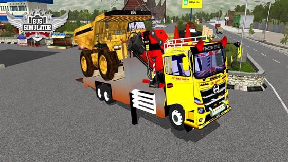 Hino 500 NG Crane 6X4 CAT Muatan Truck Tambang