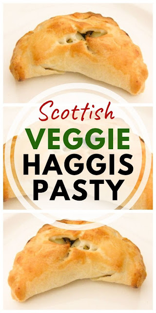 Vegetarian Haggis and Potato Pasties - Easy Scottish shortcrust pastry pies that are perfect for lunches or a family dinner. Kids love them. Add them to your lunchbox cold. #vegetarianpasty #vegetarianpasties #vegetarianhaggis #veggiehaggis #pasties #pasty #cornishpasties #scottishpie #scottishrecipes #shortcrustpastry #pastryrecipes