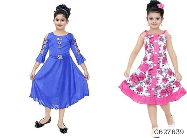 Girl's  Solid Frocks
