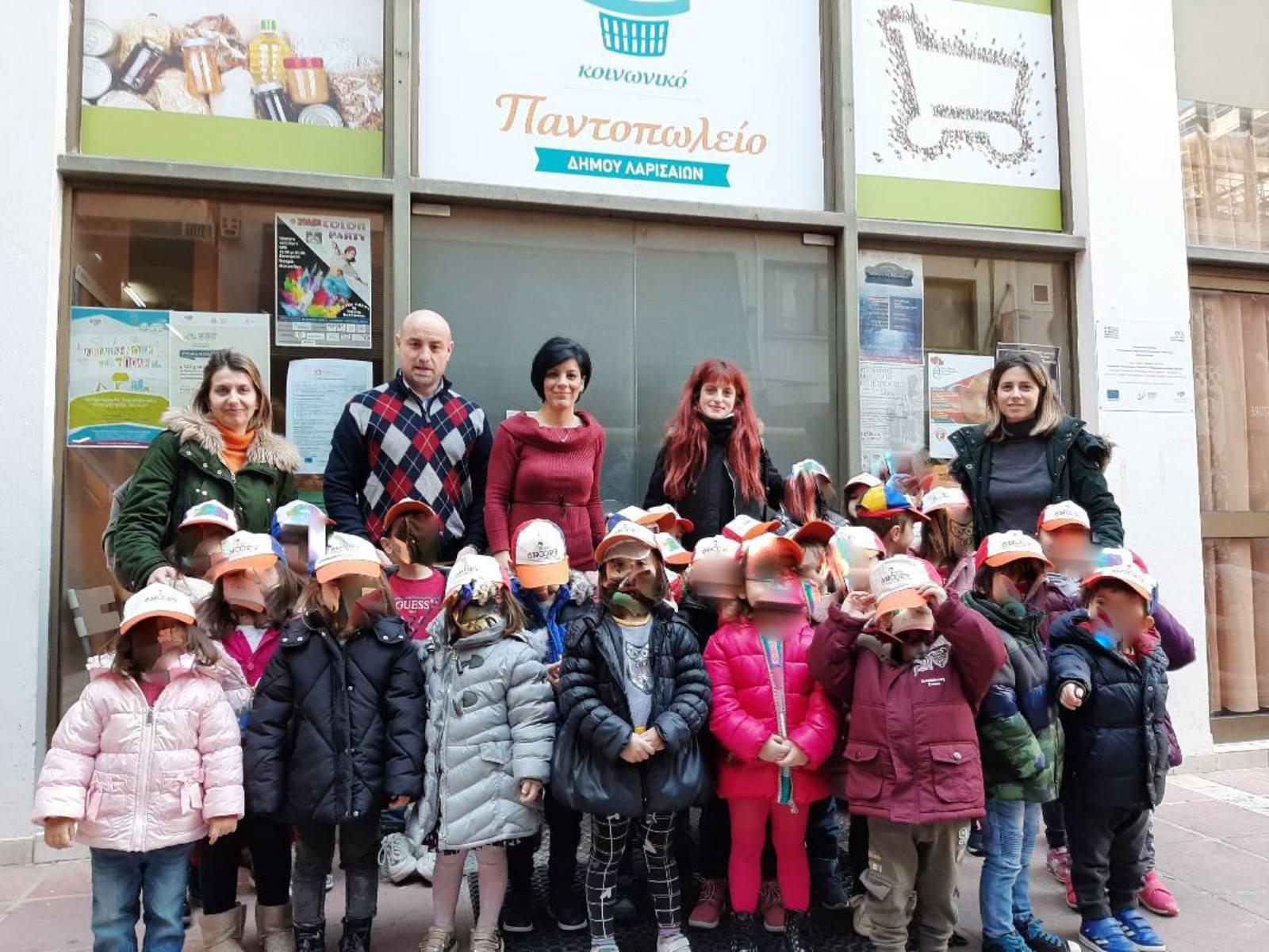 Ο παιδικός σταθμός και νηπιαγωγείο ''SNOOPY'' επισκέφθηκαν το Κοινωνικό Παντοπωλείο