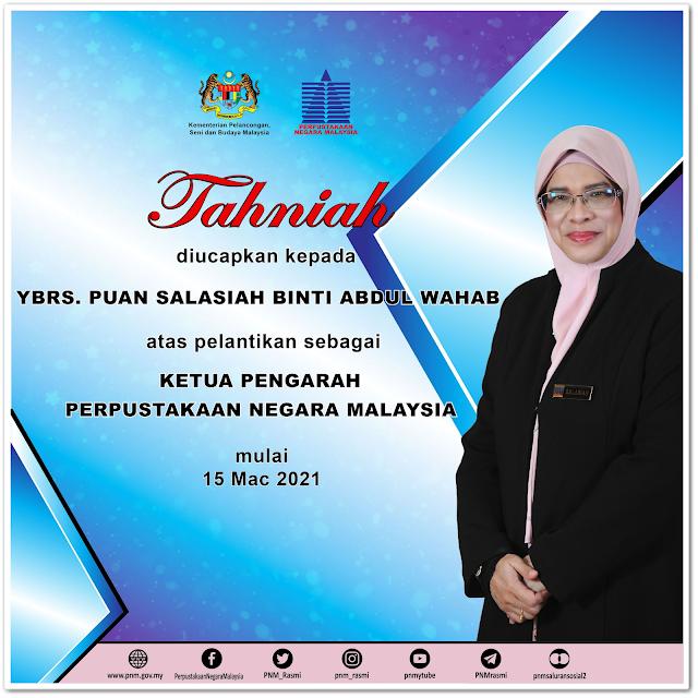 Ketua Pengarah Perpustakaan Negara Malaysia yang baharu