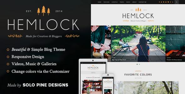 Hemlock v1.8.2 A Responsive WordPress Blog Theme Free Download Nulled