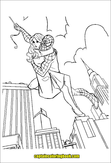 Ultimate Spiderman 3 Coloring Pages Printable | 640x436