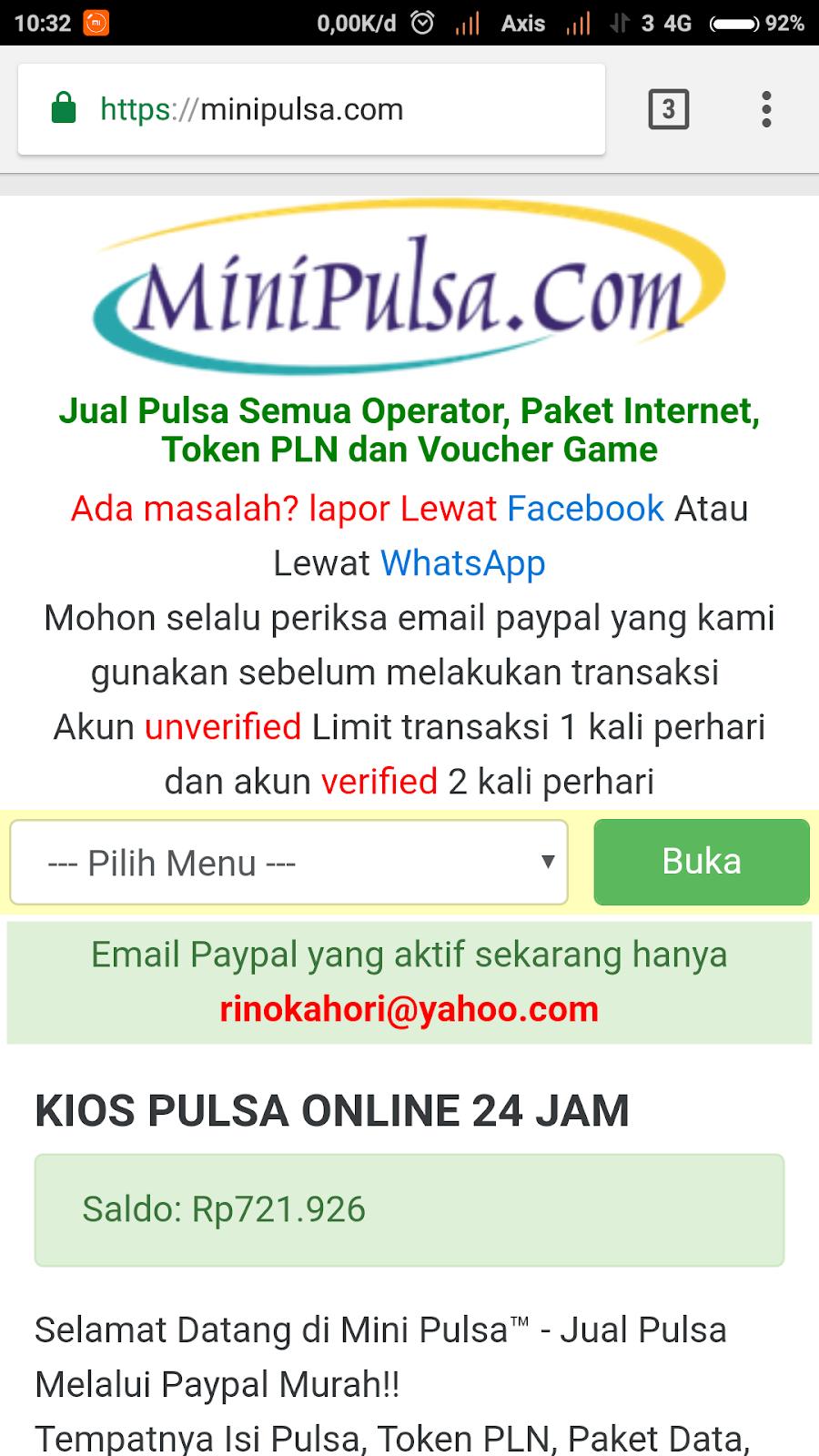 Cara Baru Beli Pulsa Via Paypal Unverified Belum Verifikasi