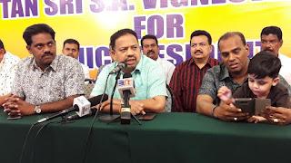 Pemimpin kanan MIC Vigneswaran umum bertanding Presiden