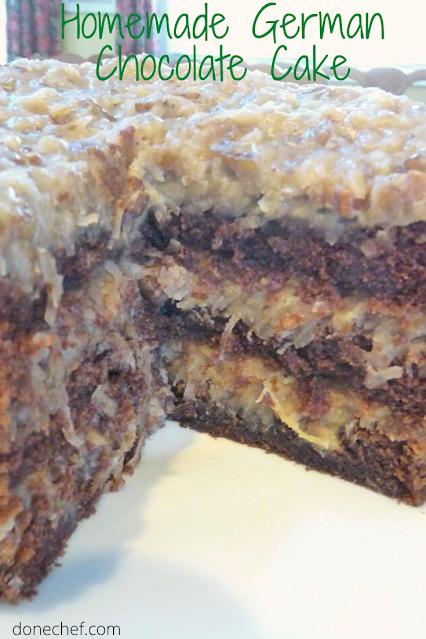 Homemade German Chocolate Cake recipe