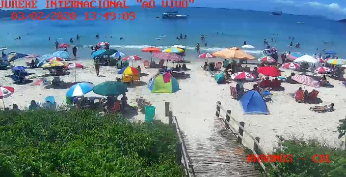 Praia Jurerê Internacional ao vivo