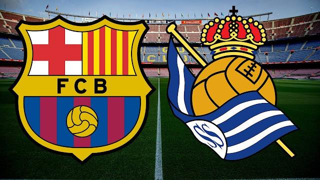 مباراة برشلونة وريال سوسييداد الدوري الإسباني