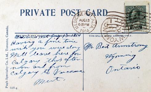 Vintage Medicine Hat Alberta Postcard