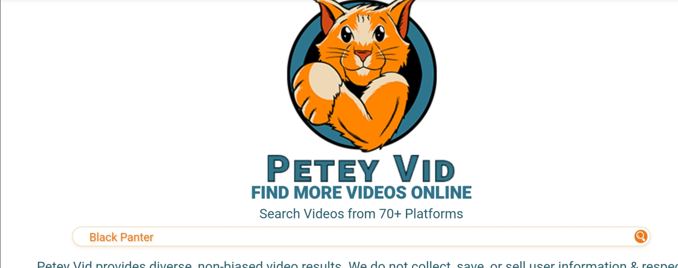 PeteyVid movies search engine