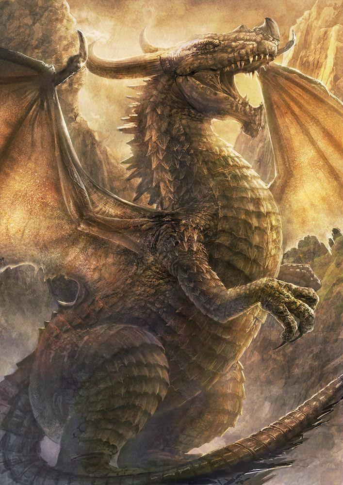 Lazy Dragon, the girl and Dragon - Bilder Land