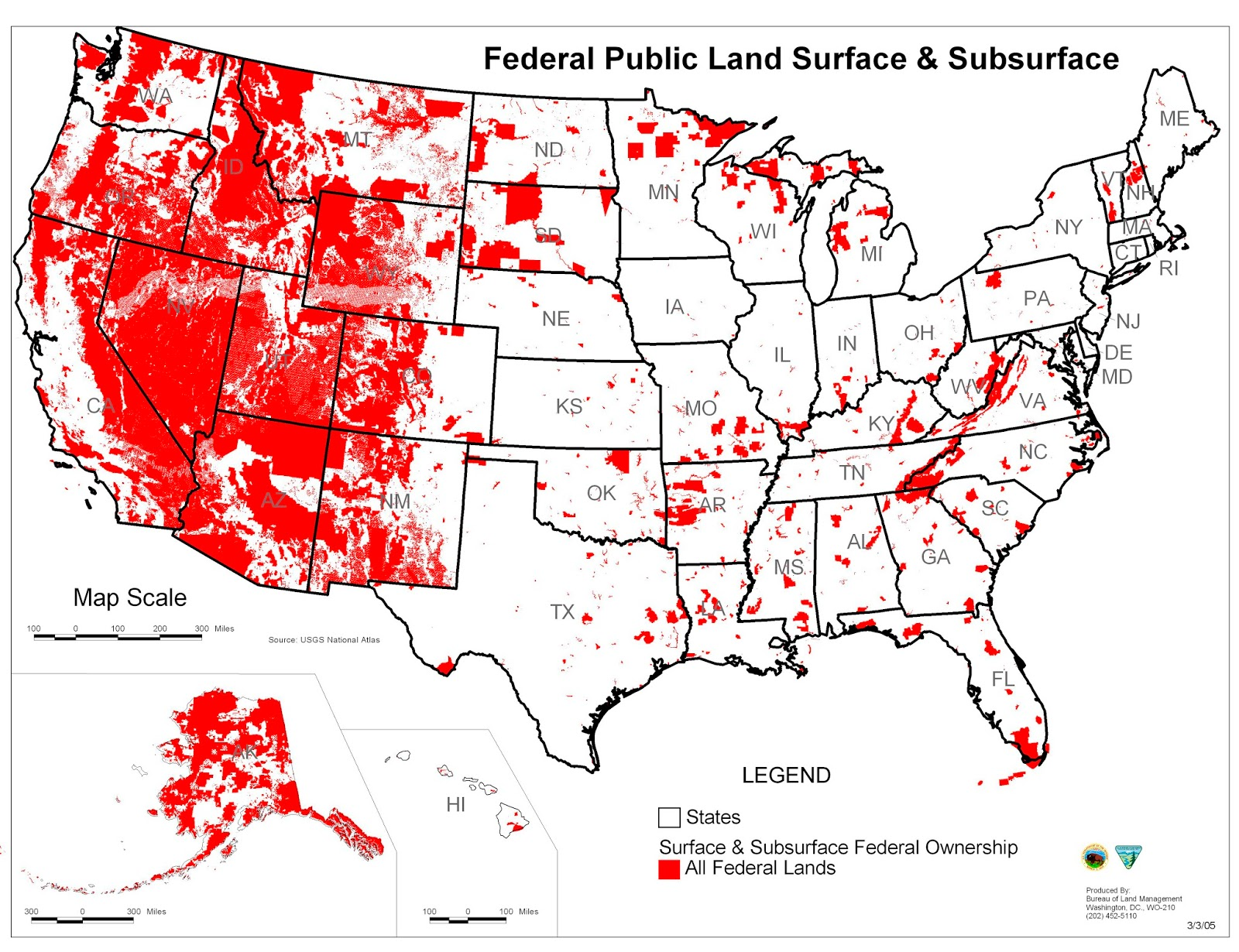 and give back the land that it has illegally stolen from the many states on the map at right all the area in red is land that the federal