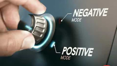 Try to replace negative thoughts into positive thoughts