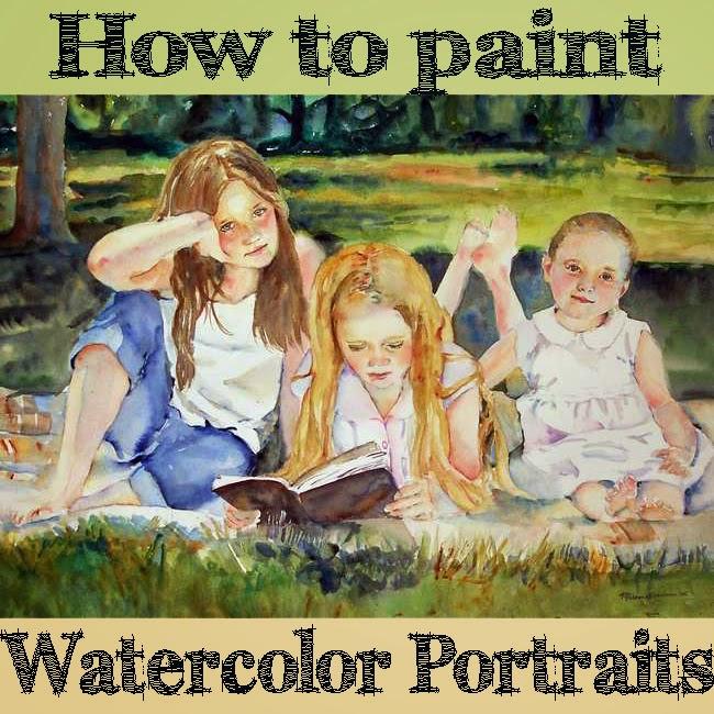 online watercolor portrait class