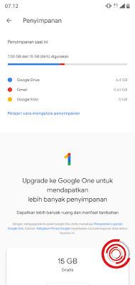 3. Terakhir nantinya akan muncul detail penyimpanan akun Google kalian. Mulai dari penyimpanan yang telah digunakan dan sisi penyimpanan yang tersedia. Selain itu akan ada detail penggunaan penyimpanan mulai dari Google Drive, Gmail, atau Google Foto