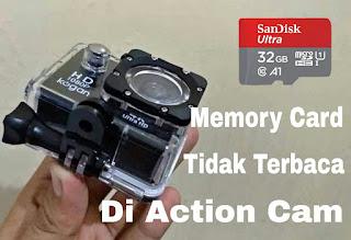 microsd tidak terdeteksi di action cam