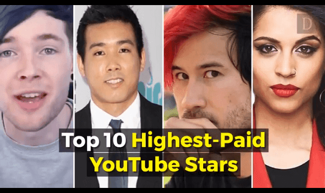 Top 10 Highest Paid Youtube Stars