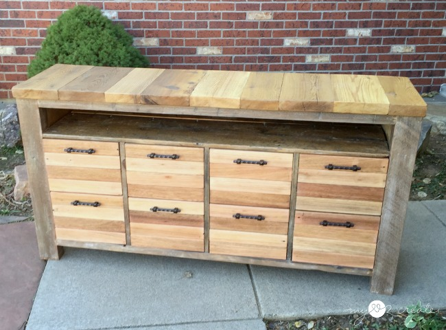 reclaimed wood media console - Reclaimed Wood Media Console