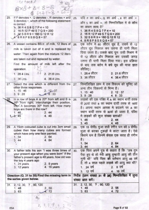 ntse previous year question paper