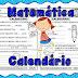 ATIVIDADE DE MATEMÁTICA - CALENDÁRIO