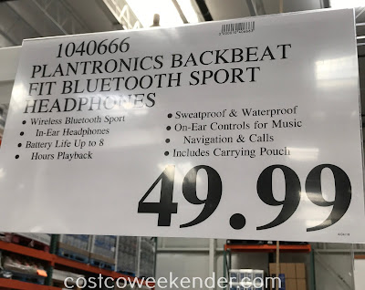 Deal for the Plantronics BackBeat FIT Wireless Sport Headphones at Costco