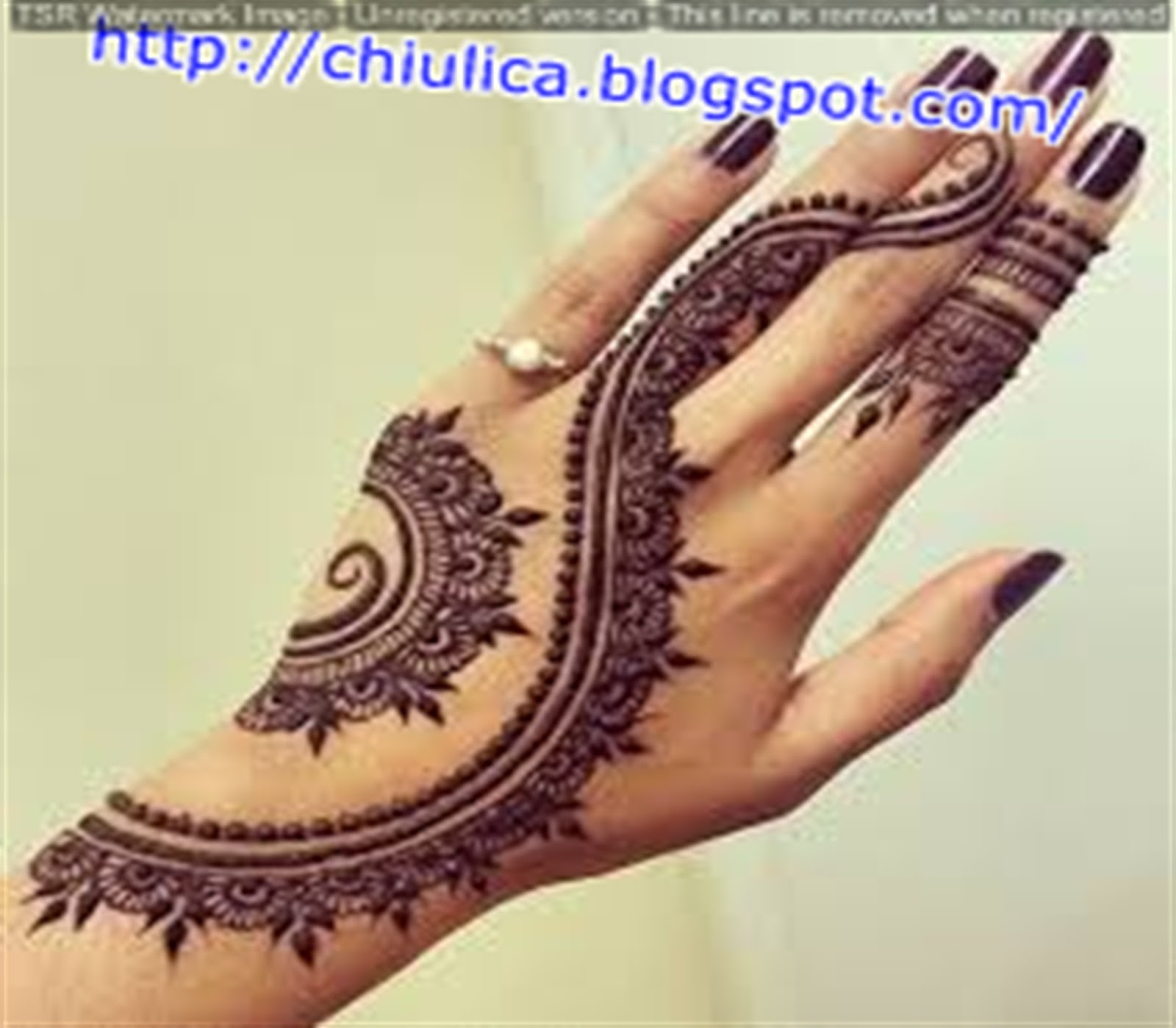 Henna Di Paha Simple Dan Mudah Terbaru 2017 Contoh Henna Simple