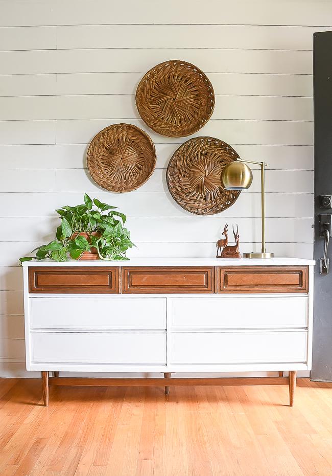 Two-tone painted Bassett dresser