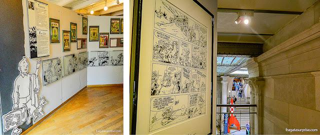 Personagens de Hergé no Museu das Histórias em Quadrinhos, Bruxelas