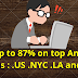 Save up to 87% on top American domains : .US .NYC .LA and more , Get coupon code of Namecheap