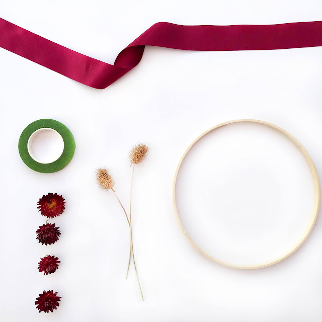 Bamboo Hoop and Ribbon DIY Craft