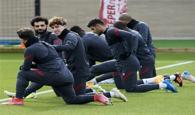 The Liverpool pair return to training ahead of the Leipzig match in the Champions League