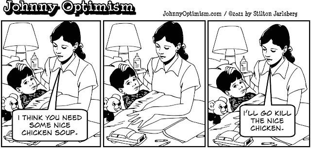 johnny optimism, medical, humor, sick, jokes, boy, wheelchair, doctors, hospital, stilton jarlsberg, chicken soup, sick boy