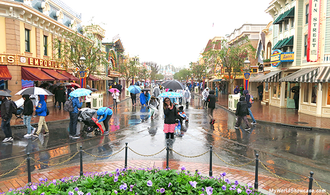 Rainy Days at Disneyland- Main Street