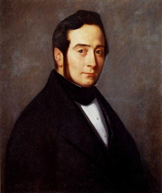 Жан Франсуа Милле - Портрет Юджина Кановилля. 1840
