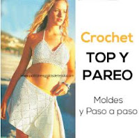 top y pareo crochet