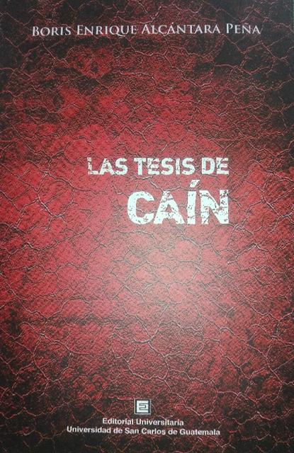 Portada Las Tesis de Caín del poeta Boris Alcántara