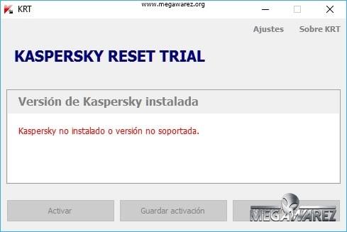 Kaspersky Reset Trial imagenes
