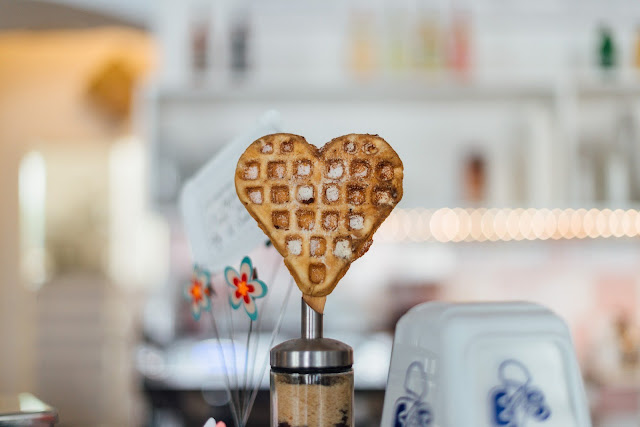 Waffle Heart | Photo by Roman Kraft via Unsplash