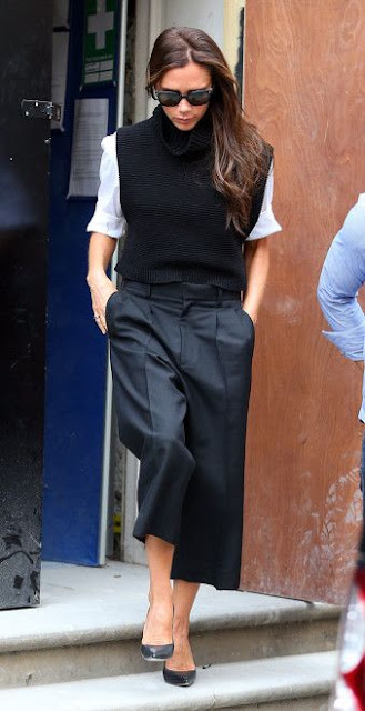 VICTORIA BECKHAM TIPS TO STYLE WIDE LEG CROPPED PANTS