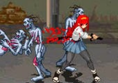 لعبة قتال الانمي ضد الزومبي المجانين crazy zombie v1.0