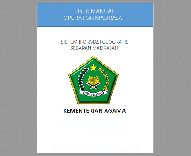 Panduan Operator GIS Madrasah 2018