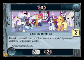My Little Pony Fashion Blindness Friends Forever CCG Card