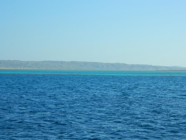 clear blue Egyptian sea