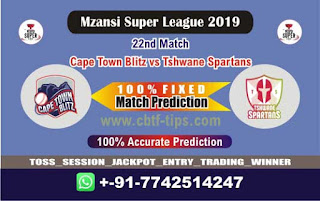 Who will win Today MSL 2019, 22nd Match Cape Town vs Tshwane - Cricfrog
