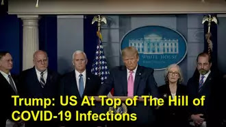 US President Donald Trump- US At Top of The Hill of COVID-19 Infections